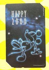 Lovely Cute Disney Happy 2000 Year Phone Card Telephone Mickey Mouse NTT JAPAN