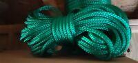 1/2 x 100 ft. Pre -Cut Hollow Braid Polypropylene rope hank. Bright Green.