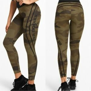BETTER BODIES Green Camo High Tights  ** XS ** NEW with TAGS!!!!