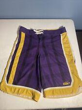 New listing Nike 6.0 Board Shorts Men Size Medium 30 Swim Trunks Lakers Colors Purple Yellow