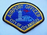 Vintage LAX LA 1990's Los Angeles Airport Officer Police Cheese Cloth Patch Used