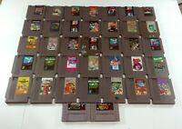 Lot of 37 NES SNES Games Untested Mario Mike Tyson  Ninja Turtles Nintendo