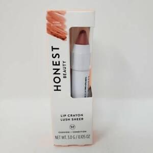 Honest Beauty Lip Color Crayon Lush Sheer Blossom Lipstick Cushion Condition NEW