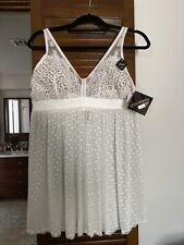 NWT Seductivewear by Cinema Etolile Plus Size Bridal Teddy Lingerie White 1X