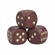 Dice - 30mm - Wood - Braun