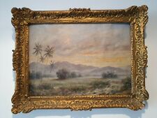 Early 20th Century Indonesian Landscape Oil Painting Signed L Van Bergen (Dutch)