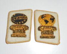 NWO Illuminati Officer General Unit Uniform Collar Tabs Gold Omega Armageddon 13
