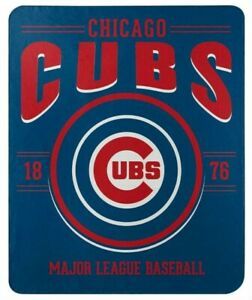 "Northwest MLB Fleece 50""x60"" Throw Blanket Baseball SouthPaw - Chicago Cubs"