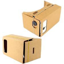 Google Cardboard VR Headset Full Kit Magnet +VR Games For iPhone 4 5 6 Plus#❃Q