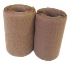 50cm. Cinta cierre coser 100mm marrón pincho y pelo fijación agarre textil