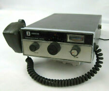 Vintage Johnson Messenger 123A CB Radio complete with mounted microphone