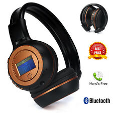 Stereo Wireless Bluetooth Headset Headphones w/ Mic TF SD FM Foldable For iPhone