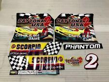 Sega Daytona USA 2 Arcade Cabinet 2 Artsets Stickers Parts Reproduction