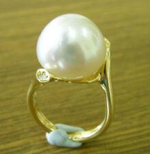 Pearl White Not Enhanced Fine Rings