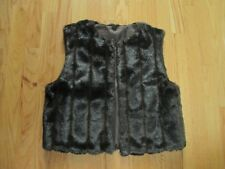 Chocolate Mink Faux Fur Vest Small New