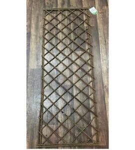 Willow Garden Trellis Panels with Square Top   (120cm x 45cm) Garden Essential