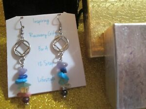 NARCOTICS ANONYMOUS, EARRINGS, JEWELRY