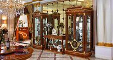 Vitrine Glas Schrank Wohnzimmer Schaufenster 2türige Vitrinen Barock Rokoko E38
