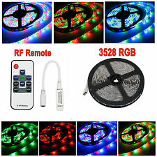 None-Waterproof 3528 SMD LED RGB Brillante Strip Light String Rope + RF Remote