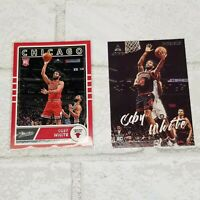 Coby White Rookie Card RC Chicago Bulls 2 Card Lot