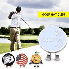 1Pcs Professional Golf Cap Clip Magnetic Hat Clips Metal Golf Ball Markers V6A1
