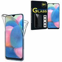 """Coque Silicone Gel protection 360° Verre Trempé Samsung Galaxy A30S 6.4"""" A307F"""