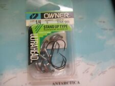 Owner 1/4 Oz Stand Up Type Ultra Head Round Bend 90 Degree 3/0 Jig Hook 5 Pack!!