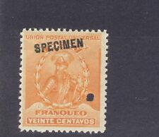 Peru 1896, 20c Pizarro, American Bank Note Co. SPECIMEN overprint NH #150