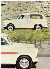 Trabant 600 1962-63 German Market Foldout Sales Brochure Saloon Universal