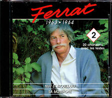 JEAN FERRAT - 1963 / 1964 - VOLUME 2 - BEST OF CD ALBUM [1544]
