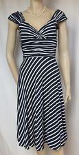 Jerseykleid Laura Ashley 34 blau weiß Streifen maritim Sommerkleid Urlaub
