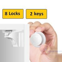 8 Invisible Safety Baby Magnetic Cupboard Drawers Lock Door Child Baby Pet Proof