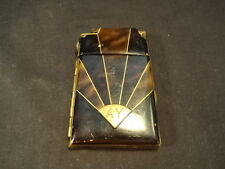 Old Vtg Antique Marathon USA Art Deco Design Cigarette Lighter Holder Case