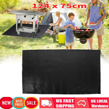 "48x30"" Bbq Gas Grill Pad Mat Fire Resistant Outdoor Splatter Rug Floor Protect"