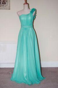One shoulder Full-Length Chiffon Evening Prom Bridesmaid Wedding DressJS32(6-24)