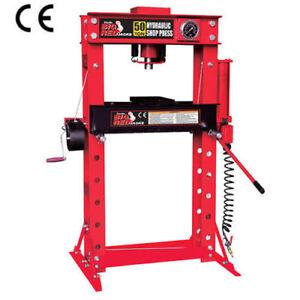 Press 50 Ton Hydraulic Air/ Manuel Press Shop Press Workshop Press New