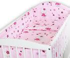 BABY BEDDING SET ALLROUND BUMPER COTBED 140x70 100 % COTTON COVER SET 2 3 5 6 PC