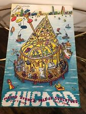 Pop Artist Red Grooms 1982 Chicago Navy Pier Mile of Sculpture Lithograph Poster