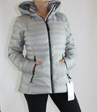 Lululemon Down For It Jacket size 12 White Silver NWT Gray Winter Coat w. Hood