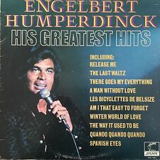 VINYL- ENGELBERT HUMPERDINCK His Greatest Hits 1971 UK Vinyl LP