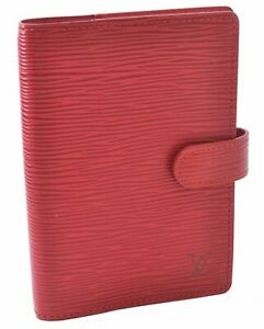 Authentic Louis Vuitton Epi Agenda PM Day Planner Cover Red LV A5485