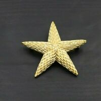 High Qulity Vintage 1960 BSK Signed Artsy Gold Tone Starfish Brooch Pin A39