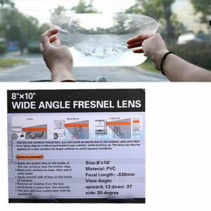 """WIDE ANGLE CAR REAR WINDOW FRESNEL LENS  VIEW OPTICAL 8""""x10"""" Reversing Parking"""