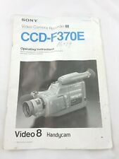 Sony Handycam CCD-F370E  Operating Instructions Manual