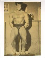 STEVE REEVES At Ed Yaricks Gym Doing Hack Squats Bodybuilding Photo B&W