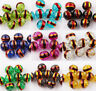 20/50pcs Czech Glass Round Loose Charms Spacer Beads Jewelry Findings 8mm Hot