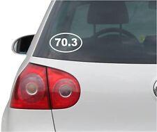 70.3 Oval Bumper Sticker or Helmet Sticker D150 Euro Oval Iron Man