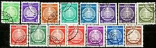 Germany DDR 1954 Officials Set of 15 Used Scott's O1 to O12 & O14 to O16