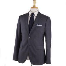 NWT $1935 BOGLIOLI Gray-Sky Blue Stripe Year-Round Wool Suit Slim 38 R (Eu 48)