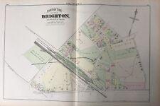 1875 GM HOPKINS SUFFOLK COUNTY BRIGHTON BOSTON ALLSTON STATION MA PLAT ATLAS MAP